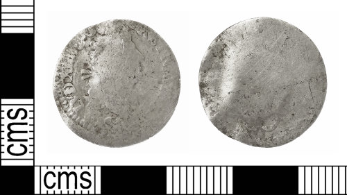 IOW-DB6AE1: Post-Medieval Coin: Sol-piece of Louis XIV of France