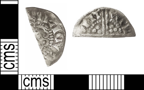 IOW-0B218E: Medieval Coin: Cut Halfpenny of Henry III