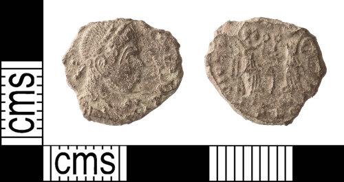 IOW-C807CB: Roman Coin: Nummus of the House of Constantine