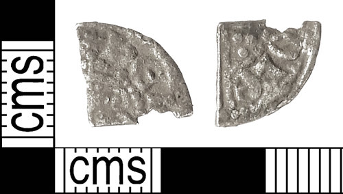 IOW-ECE9F8: Medieval Coin: Cut Farthing of Henry III