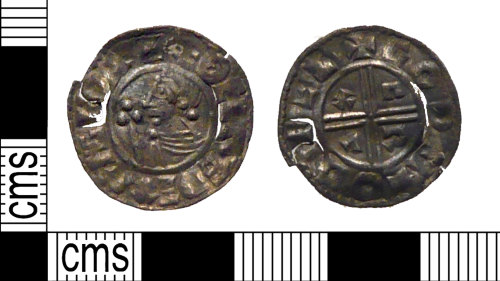 PUBLIC-99041C: A complete Early Medieval silver penny of Aethelred II.