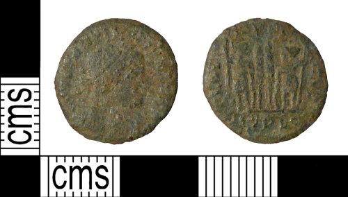 PUBLIC-804FB0: A complete copper alloy Roman nummus (AE4) of Constantine I.