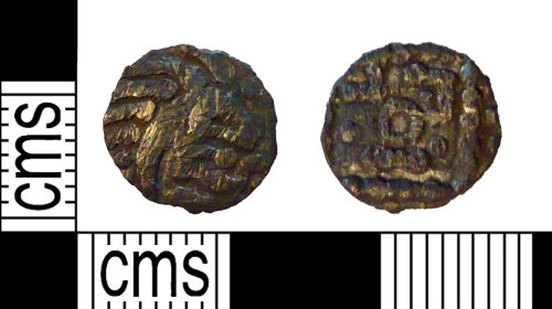 PUBLIC-92C204: A compleat Early Medieval silver Continental Sceat, series E and minted in Frisia