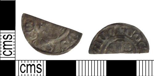 PUBLIC-E2B4C7: A silver medieval cut short-cross halfpenny of Henry II.