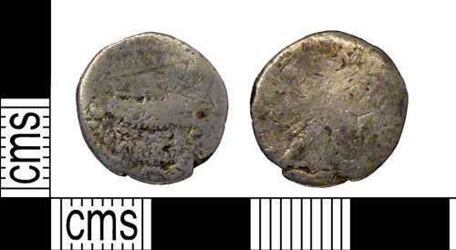PUBLIC-4122D8: A Silver denarius of Mark Anthony dated 32BC - 31BC.