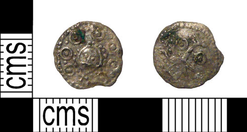 PUBLIC-938194: A complete Early Medieval silver Sceat of Series H, type 49.