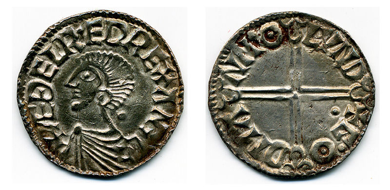 LVPL-43E406: Silver long cross penny of Aethelred II (978-1016) dating to c.997-1003, North no. 774