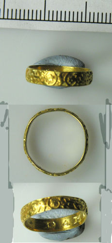 LVPL-00A457: Post-medieval gold posy ring