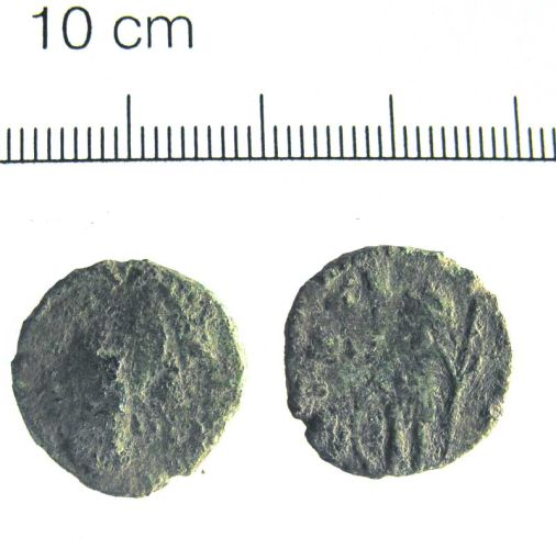 A resized image of 14. Copper alloy radiate, probably a contemporary copy of Carausius, 286-293 AD