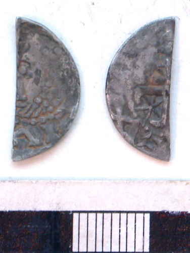 LVPL-881345: Silver cut half penny of William I of Scotland (1165-1214), Phase A, 1195-c.1205.