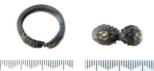 SF-8BEF14: Roman snake finger ring