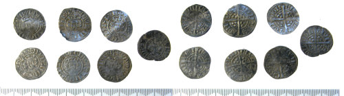 SF-8CA687: Medieval Edward I sterling penny coin hoard