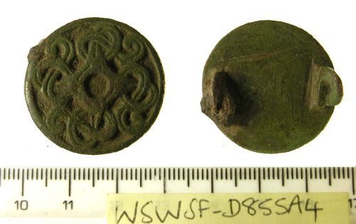 SF-D855A4: Early medieval disc brooch