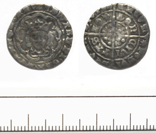 A resized image of half-groat of Edward IV- DUR-1BCC05
