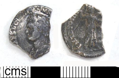DUR-29A8D3: 5. Silver denarius of Domitian as Caesar Rome, AD 84