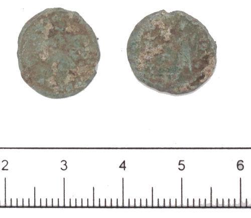 DUR-50E5C1: House of Constantine nummus- DUR-50E5C1