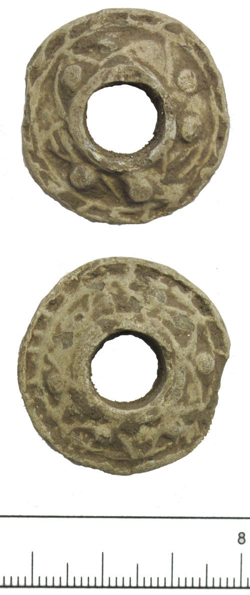 DUR-5CCFA5: Medieval spindle whorl-DUR-5CCFA5