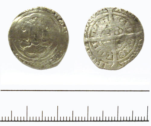 DUR-8B8BD4: halfgroat of Edward III- DUR-8B8BD4