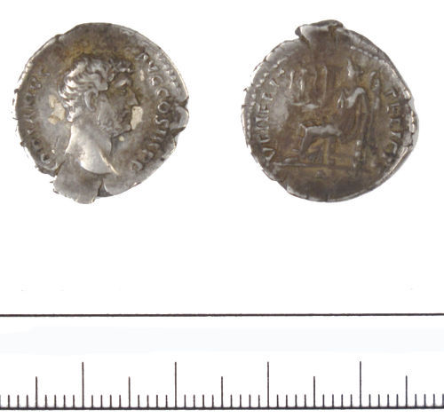 DUR-C9BED5: denarius of Hadrian- DUR-C9BED5