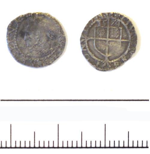 DUR-F4C972: 3 halfpence of ELizabeth I - DUR-F4C972