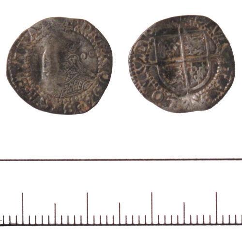 DUR-F54366: Elizabeth I halfgroat- DUR-F54366
