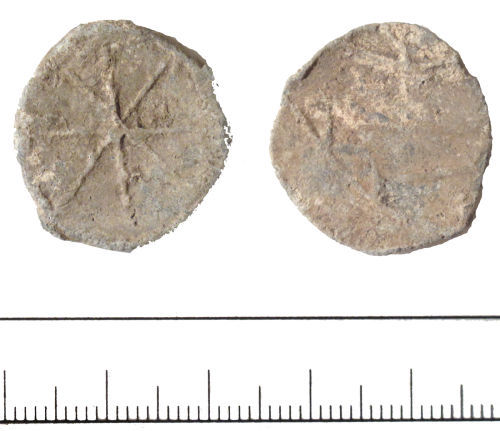 DUR-F68A44: Post Medieval token- DUR-F68A44