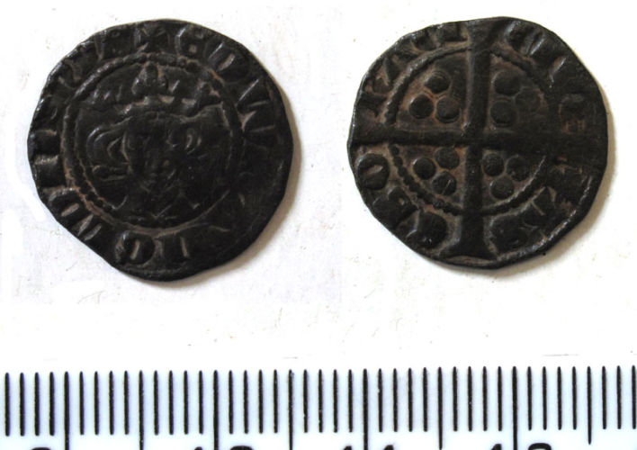 DUR-DE3B05: Silver long cross penny of Edward I (1272-1307) minted in York, 1280-1
