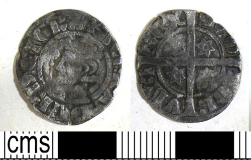 DUR-5B1136: Silver long cross penny of Alexander III of Scotland (1249-86), 2nd coinage, 1280-86.