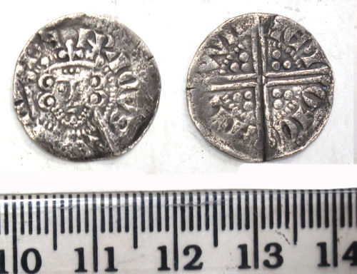 DUR-37AED1: Silver long cross penny of Henry III (1218-72) minted in Canterbury, 1251-72.
