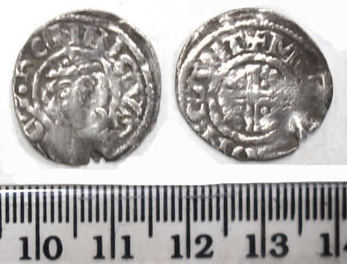 DUR-3803C8: Silver short cross penny of Richard I (1189-99), minted in Canterbury, 1189/90- 1194