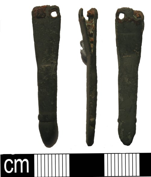 KENT-72EA19: Early Medieval. Strap-end. Class B Type 1