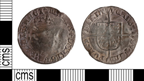 YORYM-71DCE5: Post medieval coin: groat of Mary