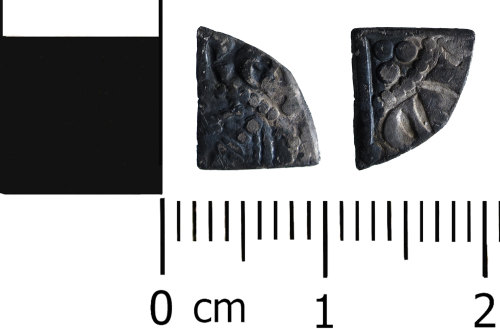 HESH-59D4E2: Medieval Coin: Cut Farthing of Henry III