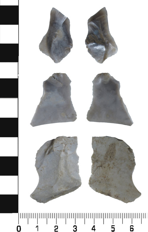 HESH-670A23: Neolithic Debitage: three pieces of tertiary debitage