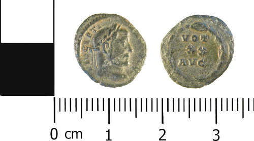 WMID-991F07: Roman Coin: complete nummus of Diocletian