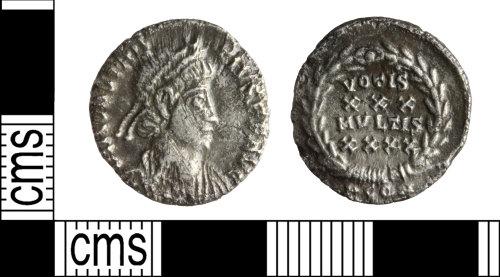 WILT-60BAEC: Roman Republican: Silver Siliqua, wConstantinus II.