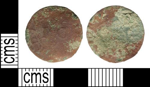 WILT-4C8DBD: Post medieval: Trade token, uncertain moneyer
