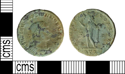WILT-BADC05: Coin: Roman nummus, House of Constantine
