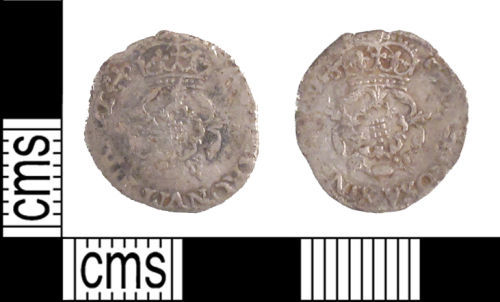 SUSS-F61565: COIN: A Post Medieval silver rose penny of Charles I or II