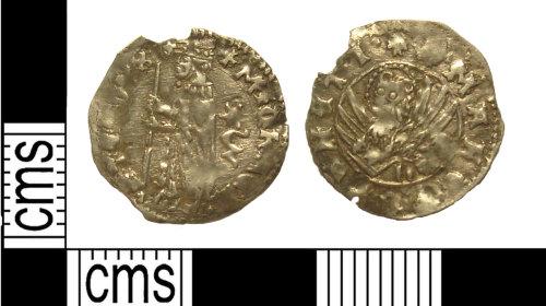 KENT-C32D9B: Venetian coin: soldino of Doge Michele Steno