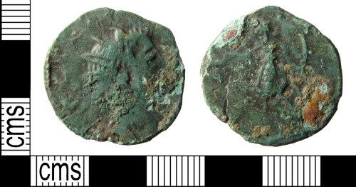 KENT-FE3E71: Roman coin: barbarous radiatee