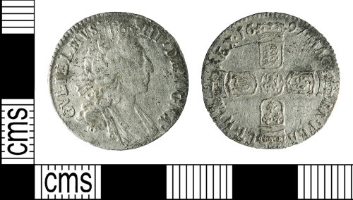 BERK-48C4AD: Post Medieval coin: silver shilling of William III