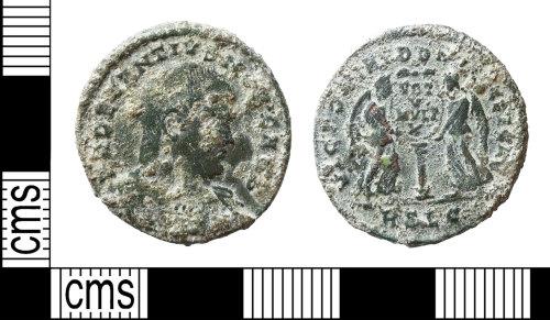BERK-678FCB: Roman coin: nummus of Decentius