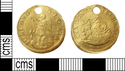 BERK-AD2BA7: Post Medieval medal; touchpiece of Queen Anne