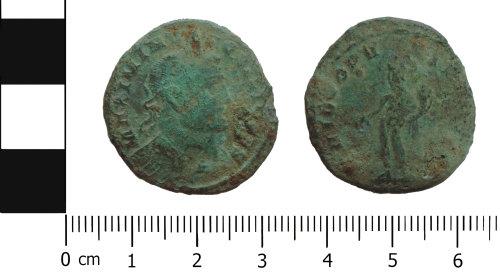 DENO-6B897B: Roman Coin: Nummus (AE1) of Maximinus II as Caesar