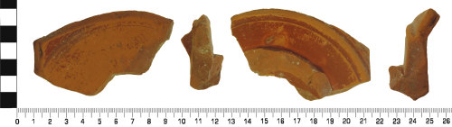 DENO-A5D625: Roman: Samian (probable South Gaulish ware) Fragment of Plate or bowl