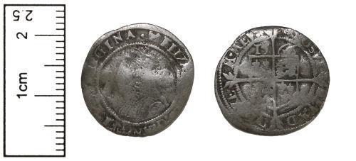 CAM-1278D3: Silver Threepence of Elizabeth I