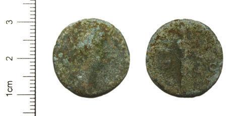 CAM-23C225: Roman Coin : Limesfalsum of a Roman coin, probably a Dupondius, of Antoninus Pius