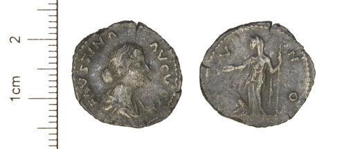 CAM-302F47: Roman Coin : Silver Denarius of Faustina