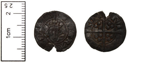 CAM-311A18: Medieval Coin - Solid Long Cross Penny